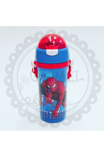 Comel Spiderman Water Bottle with Straw-600ML 380ML