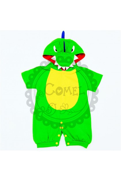 Comel Boys Girls Dragon Costume Romper Cosplay Outfit