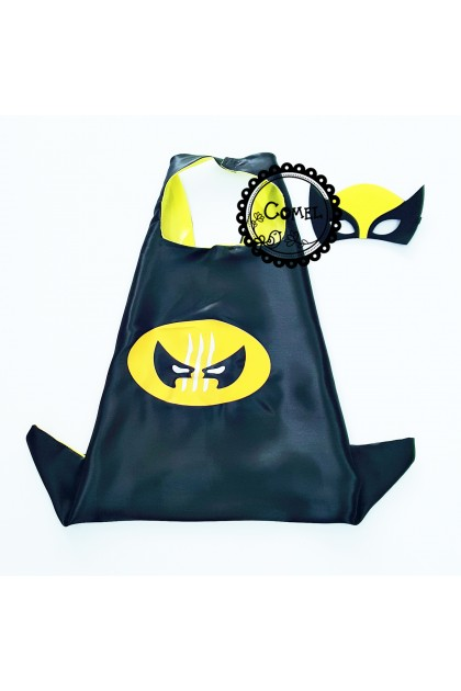 Comel Incredibles Wolverine Mask Cape (2 Types)
