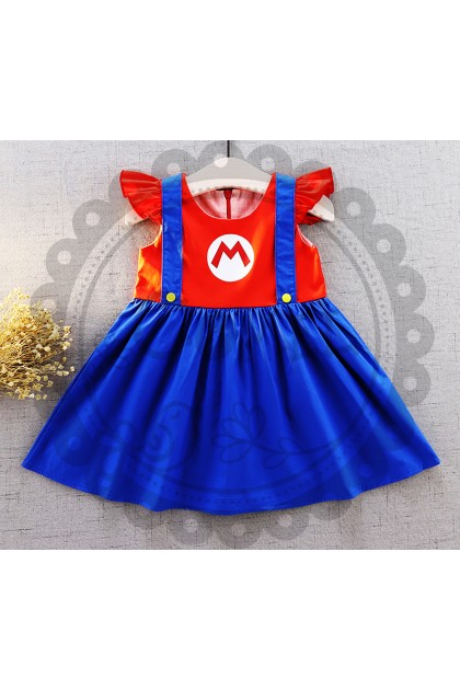 Comel Baby Costume Dress Super Mario Cosplay Outfit