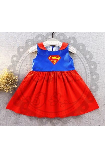 Comel Baby Costume Dress Super Girl Cosplay Outfit