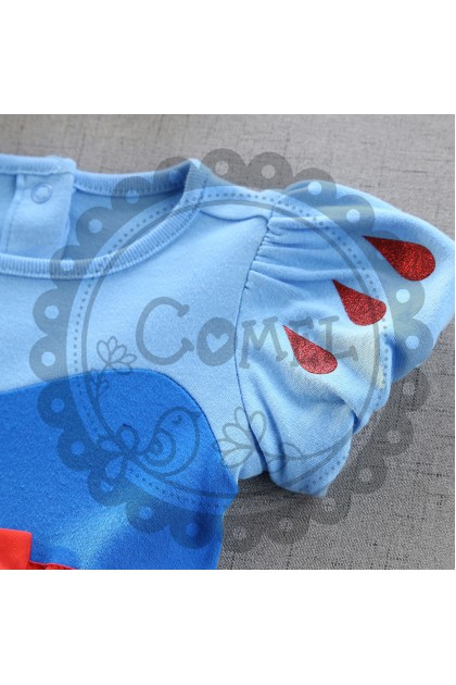 Comel Baby Girls Snow White Costume Romper Cosplay Outfit