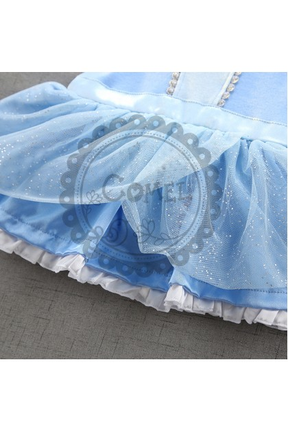 Comel Baby Girls Cinderella Costume Romper Cosplay Outfit